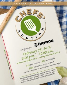 Chefs' Auction event coming February 25th