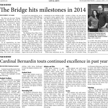 Bridge Hits Milestones in 2014 - Orland Park Prairie