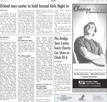 Girls Night In Returns to The Bridge 8.1.13 - Orland Park Prairie