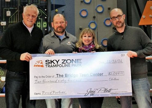 Sky Zone Grand Opening benefits The Bridge
