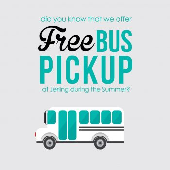 For the First Time Ever - FREE Bus Pickup During Summer at Jerling Junior High!
