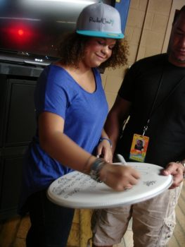 X Factor/Nickelodeon Star Rachel Crow Visits The Bridge Teen Center