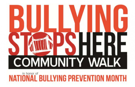 """Bullying Stops Here"" Community Walk - October 4th!"